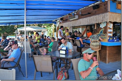 family lake norman- Blue Parrot outdoor bar