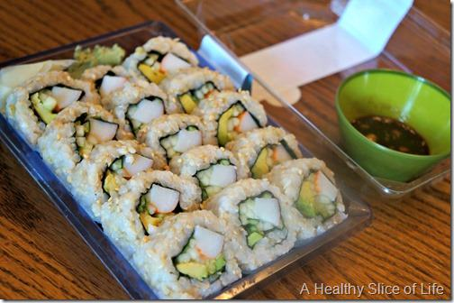 food snob- grocery store sushi