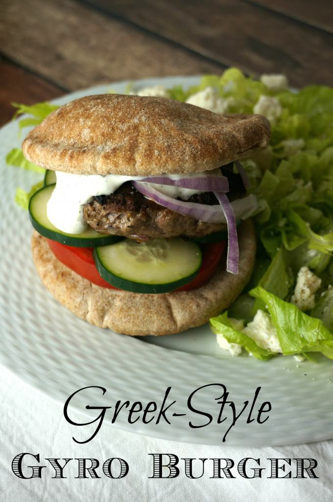 greek style gyro burger