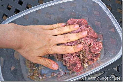 gyro burgers- mix by hand