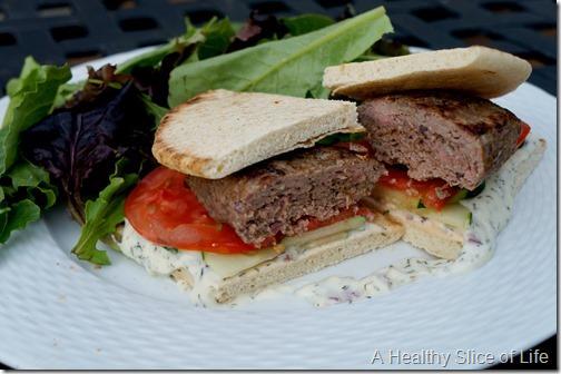 gyro burgers- side view
