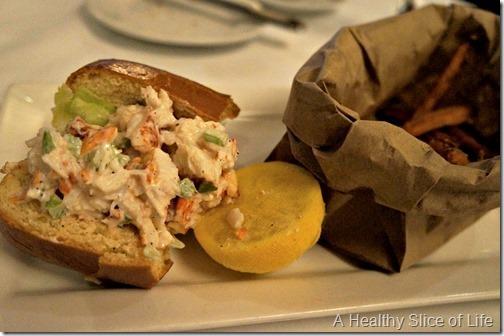 part 2 girls trip to boston- Atlantic Fish Co lobster roll
