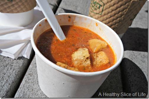 summer weekend- root down gazpacho