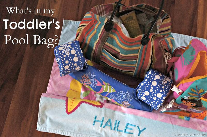 What to Pack in a Pool Bag for a Toddler | A Healthy Slice of Life