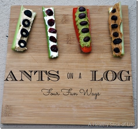 ants on a log 4 different versions