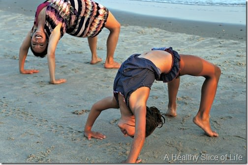 bald head island- beach gymnastics