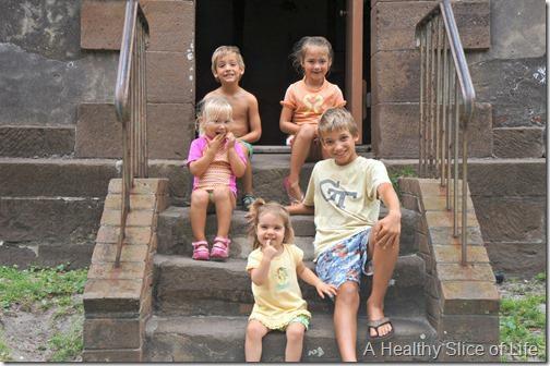 bald head island- kids at old baldy