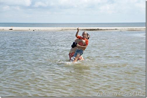 bald head island nc- water wrestling