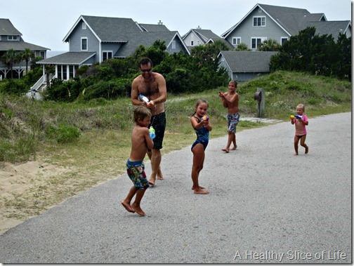 bald head island- water gun fights