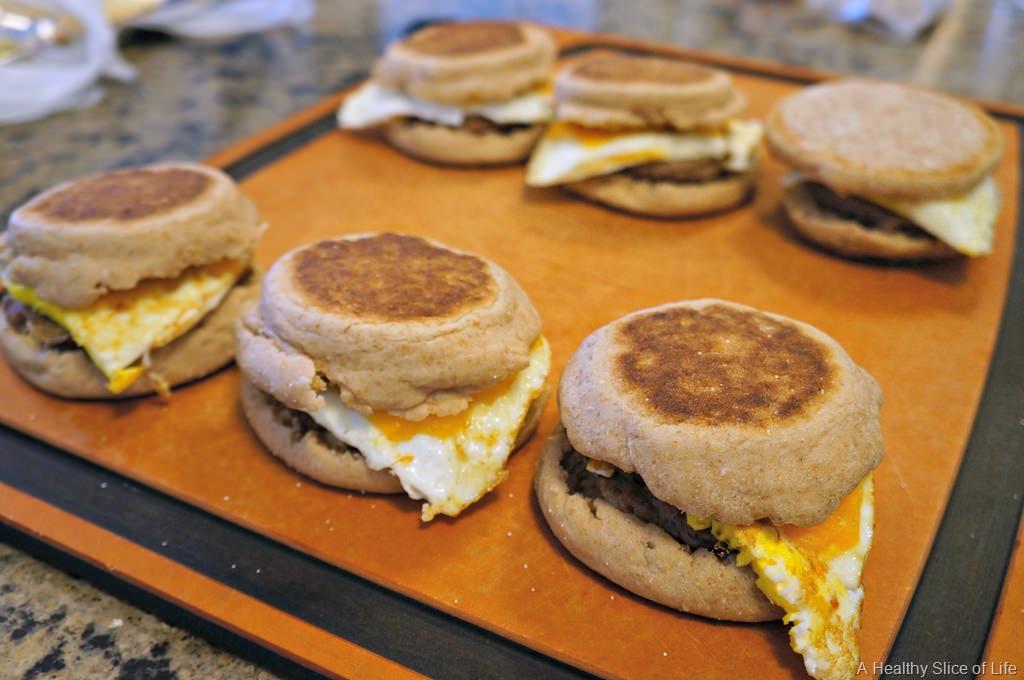 Healthy Freezer Breakfast Sandwiches