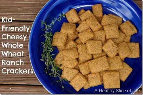 kid friendly cheesy whole wheat ranch crackers recipe