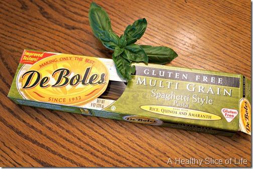 simple healthy meals- De Boles Gluten Free Spaghetti Style Pasta