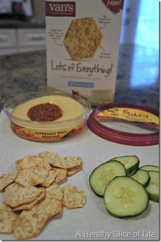 simple healthy meals- hummus snack