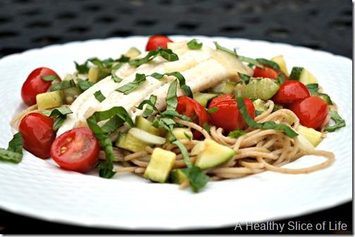 simple healthy meals- simple summer pasta