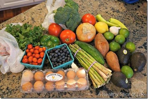 summer menu grocery shopping- josh's farmers market