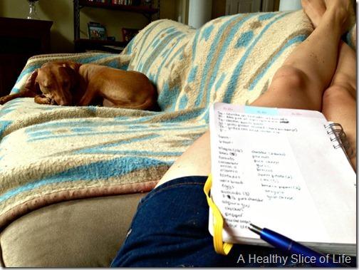 summer menu grocery shopping- list making
