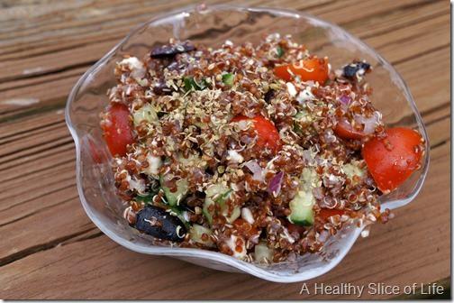 budget meal plan week 4- Greek quinoa salad