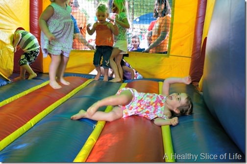 h first haircut- bounce house celebration