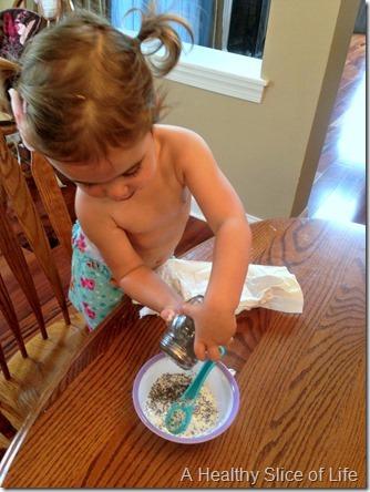 toddler loves chia seeds