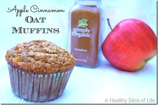 apple cinnamon oat muffins- close up 2