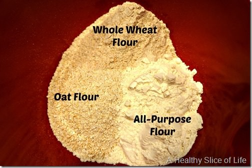 apple cinnamon oat muffins- flour