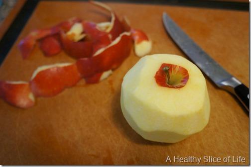 apple cinnamon oat muffins- peeled apple