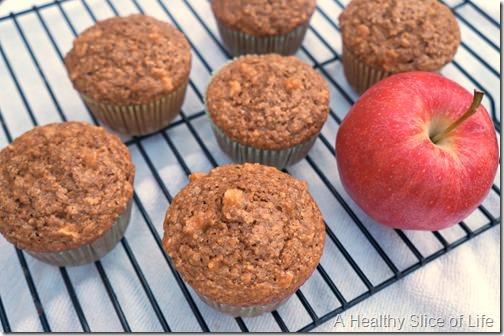 apple cinnamon oat muffins- taste of fall