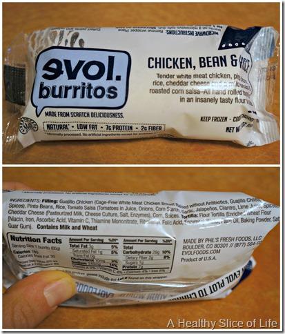 healthier frozen meal options- evol burrito minis