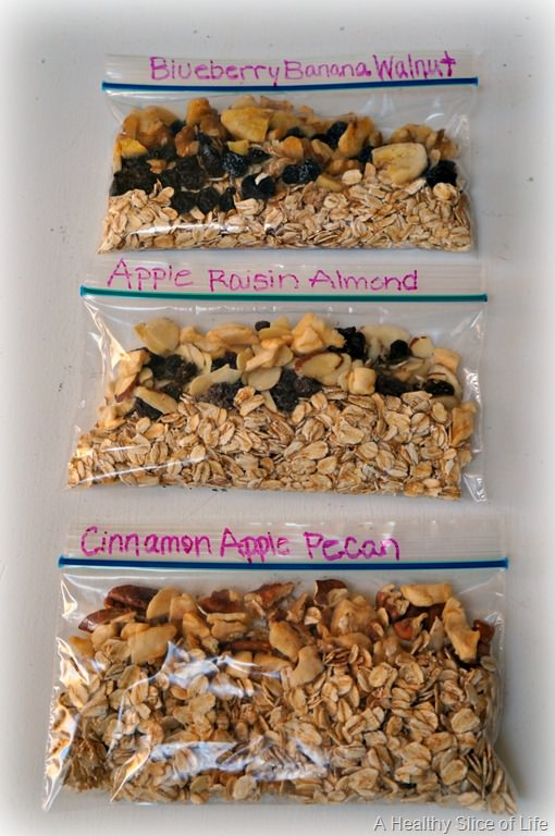 Make-Your-Own Microwavable Oatmeal Packs