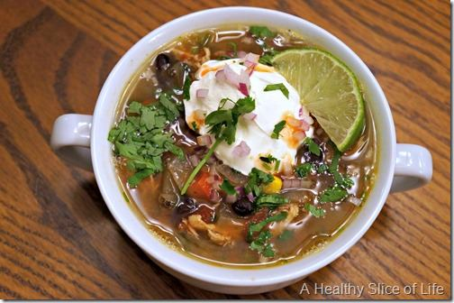 reasons to smile- chicken tortilla soup