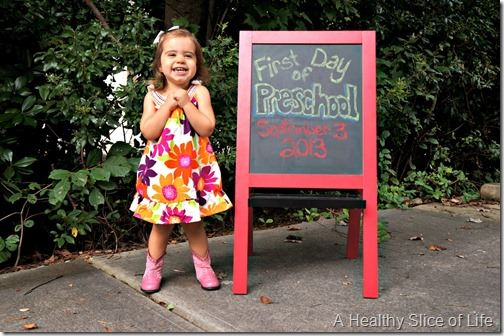 reasons to smile- first day of preschool