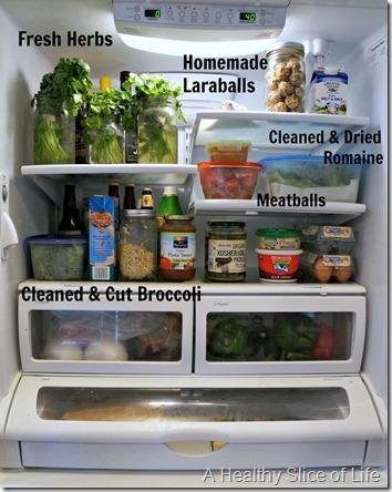 september meal plan- stocked fridge