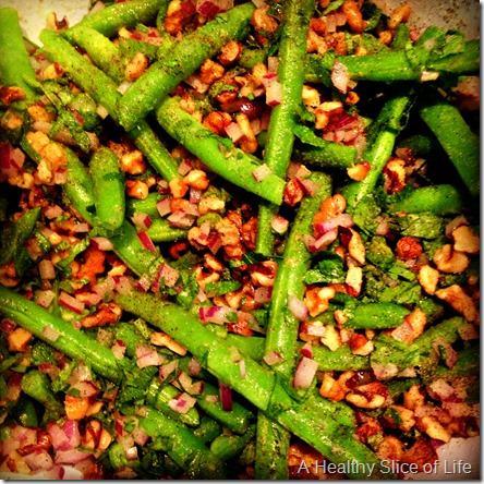snapshots- green bean salad