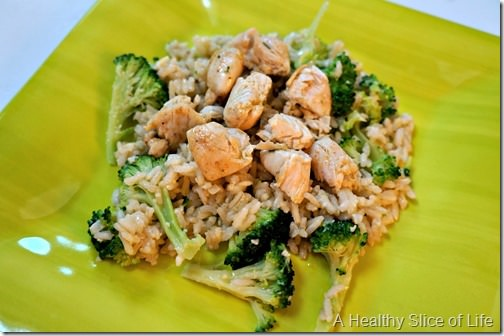 toddler meals- chicken and broccoli Parmesan rice