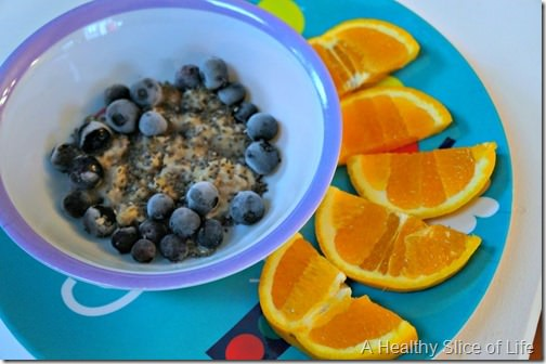 toddler meals- fruity breakfast