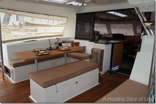 Annapolis boat show 2013- Fountaine Pajot Helia cockpit