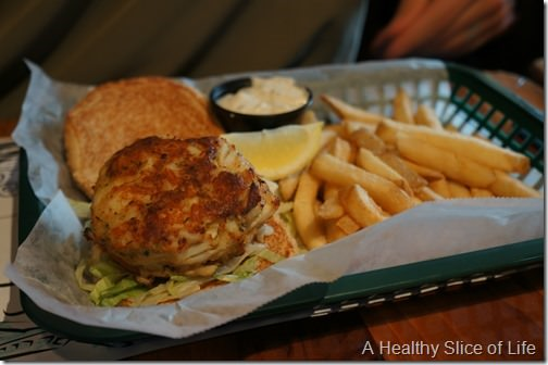 Annapolis boat show 2013- Middleton tavern crabcake sandwich