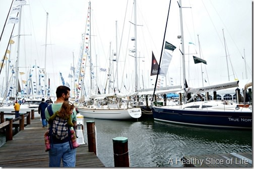 Annapolis boat show 2013- with a toddler
