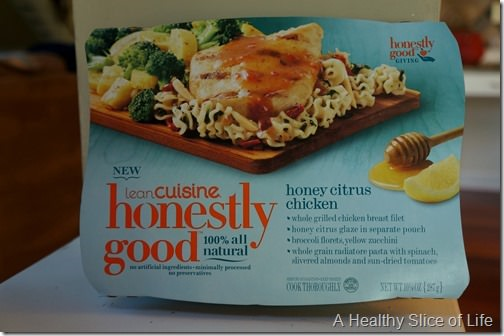 Lean cuisine honestly good- honey citrus chicken