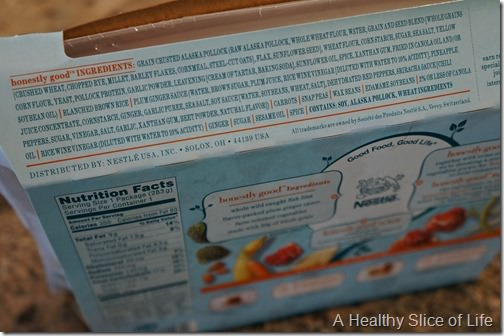 Lean cuisine honestly good- plum ginger-crusted fish ingredients