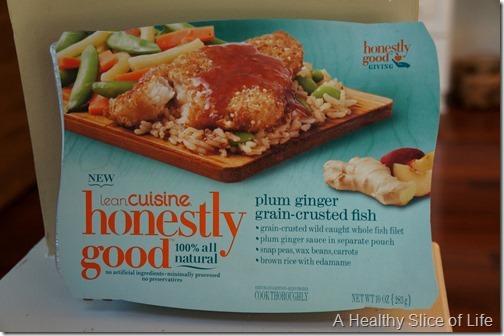 Lean cuisine honestly good- plum ginger-crusted fish