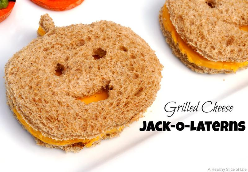 Halloween snack idea: Grilled cheese Jack o'Lanterns