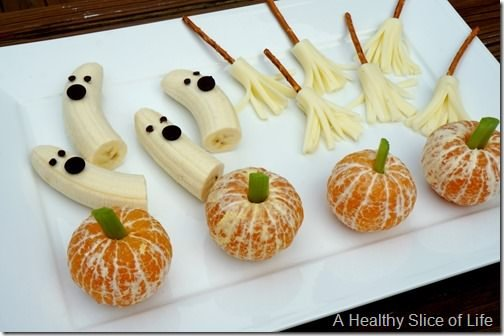 healthy kid-friendly Halloween goodies- party plate 2