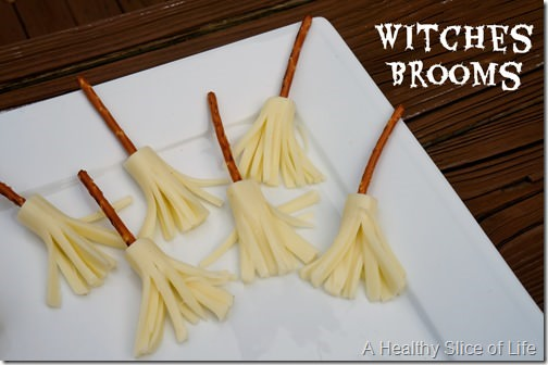 healthy kid-friendly Halloween goodies- witches brooms