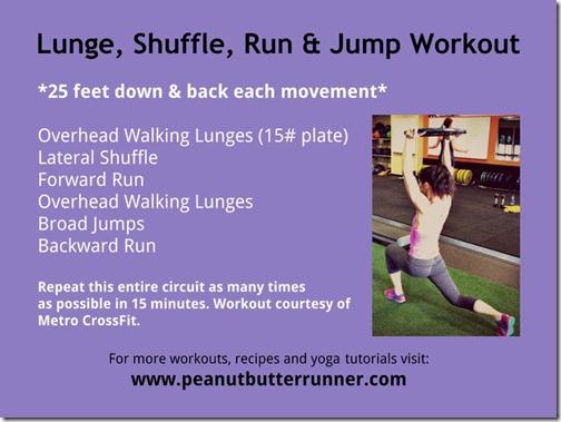 lunge shuffle run workout pbrunner