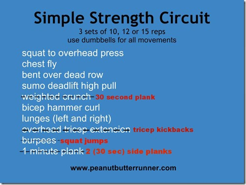 peanutbutter runner simple strength- altered