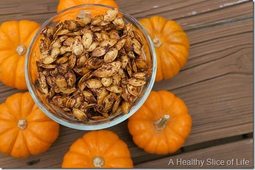 pumpkin pie spiced seeds-