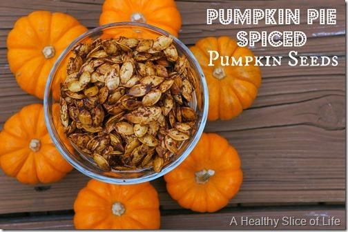 pumpkin pie spiced seeds- close up