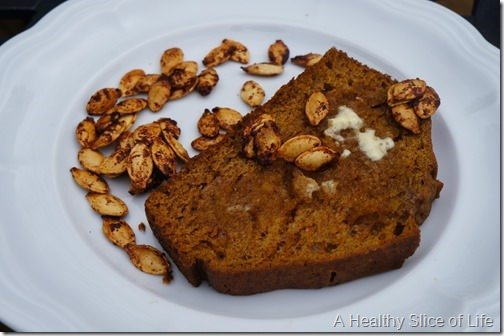 wiaw- pumpkin bread and seeds