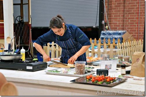 Chef Alyssa's Kitchen Cooking Class Atherton Mill- demo